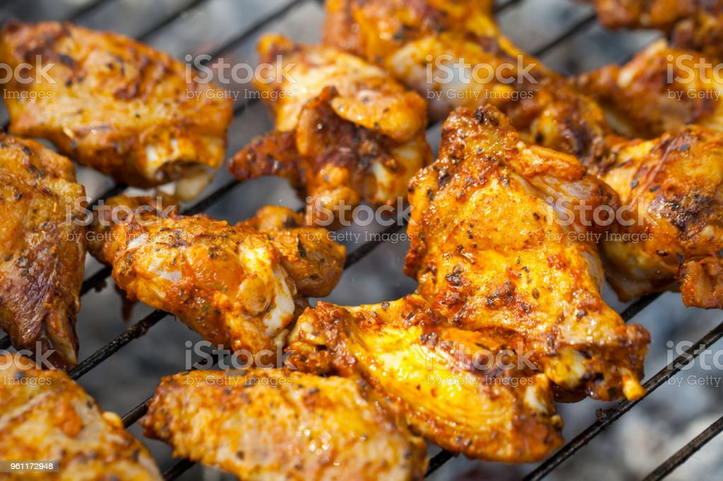 summer barbeque grilled chicken wings stock photo more pictures of