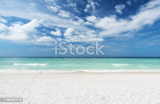 Summer beach and sea with clear sky background