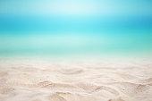 夏のビーチの背景。