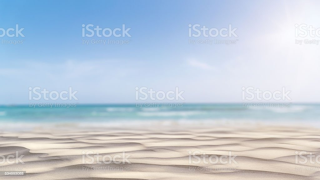 Summer Beach Background stock photo