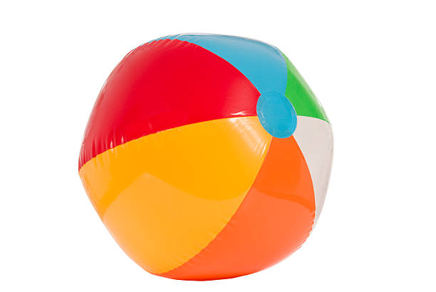 summer beach ball - beach ball stock photos and pictures