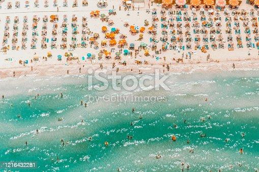 people having summer fun on the beach