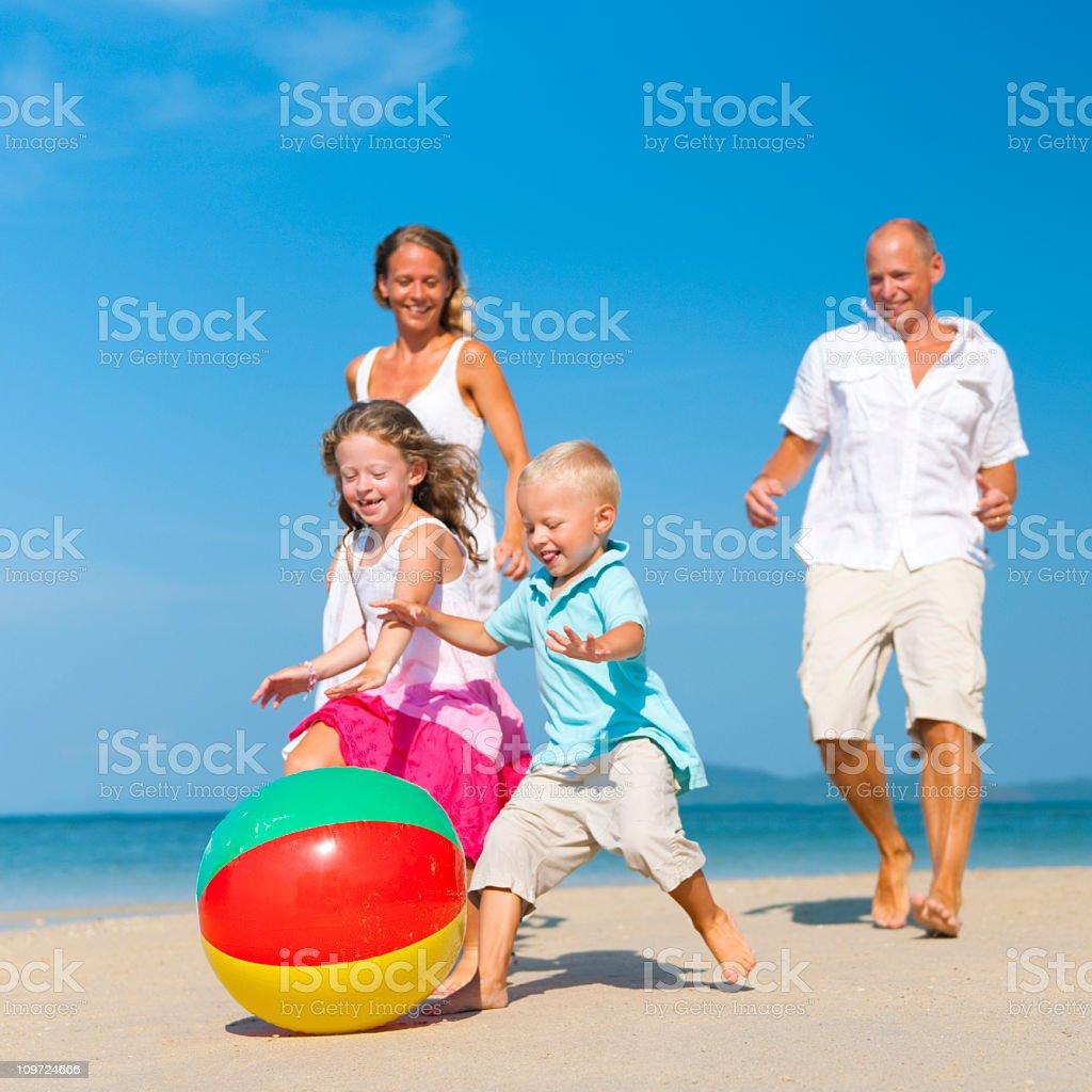 Summer Beach Family Fun royalty-free stock photo