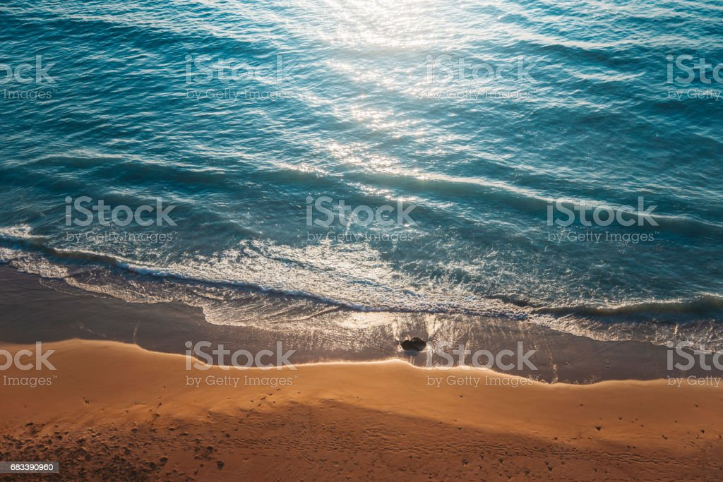 Summer beach from above stock photo