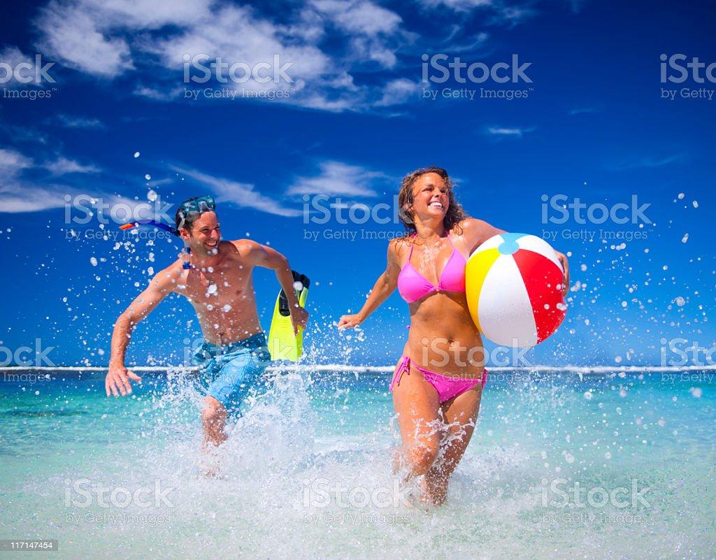 Summer Beach Fun royalty-free stock photo