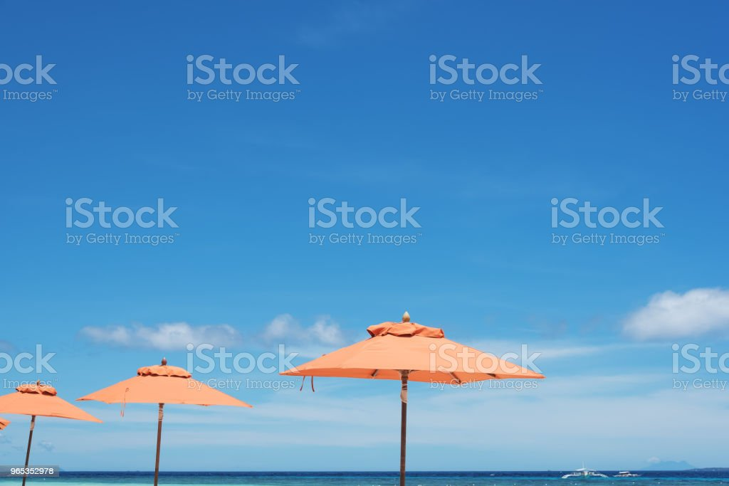 Summer Beach Holiday Background royalty-free stock photo