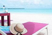Summer beach holiday scene