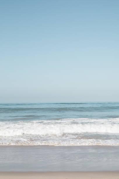 Summer beach in California stock photo