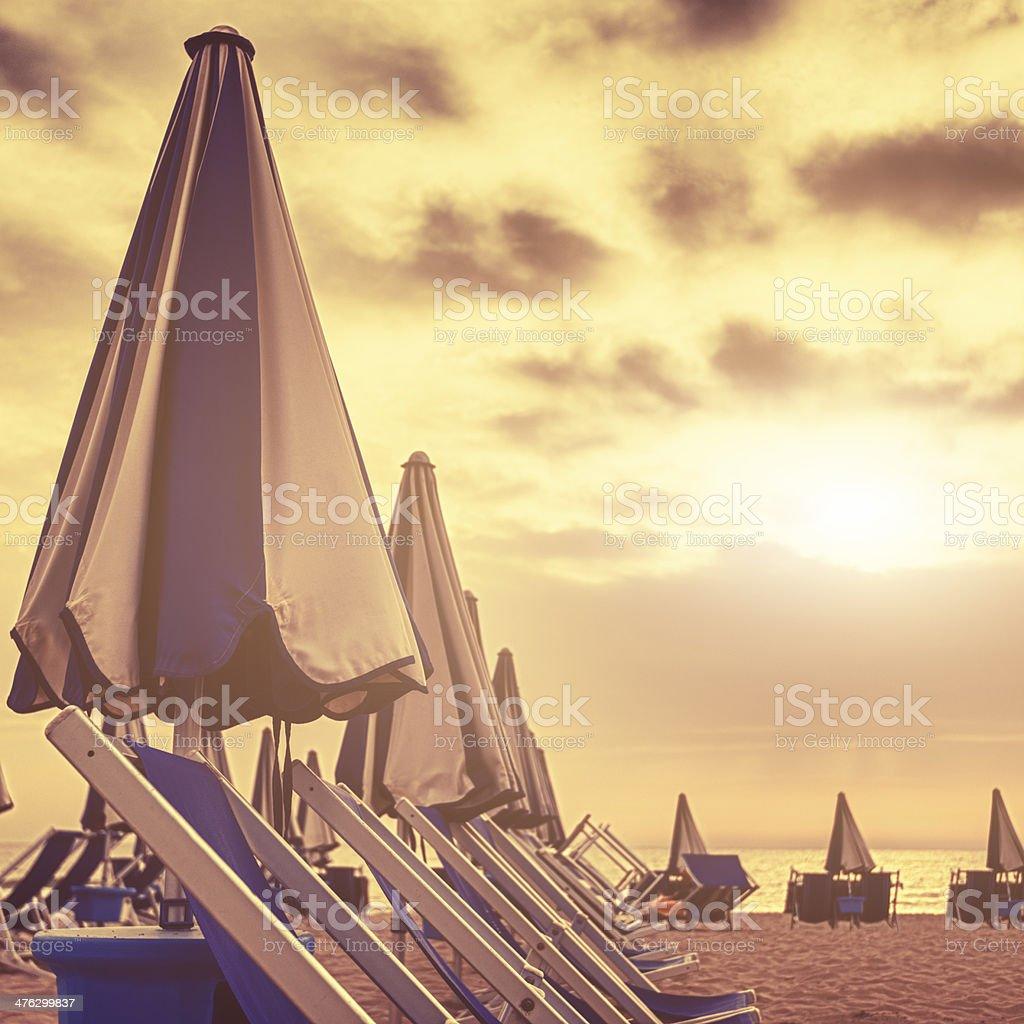 Summer beach lidos resort royalty-free stock photo