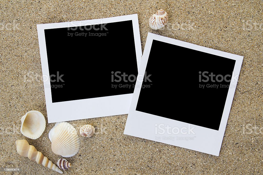 Summer beach photo frames royalty-free stock photo