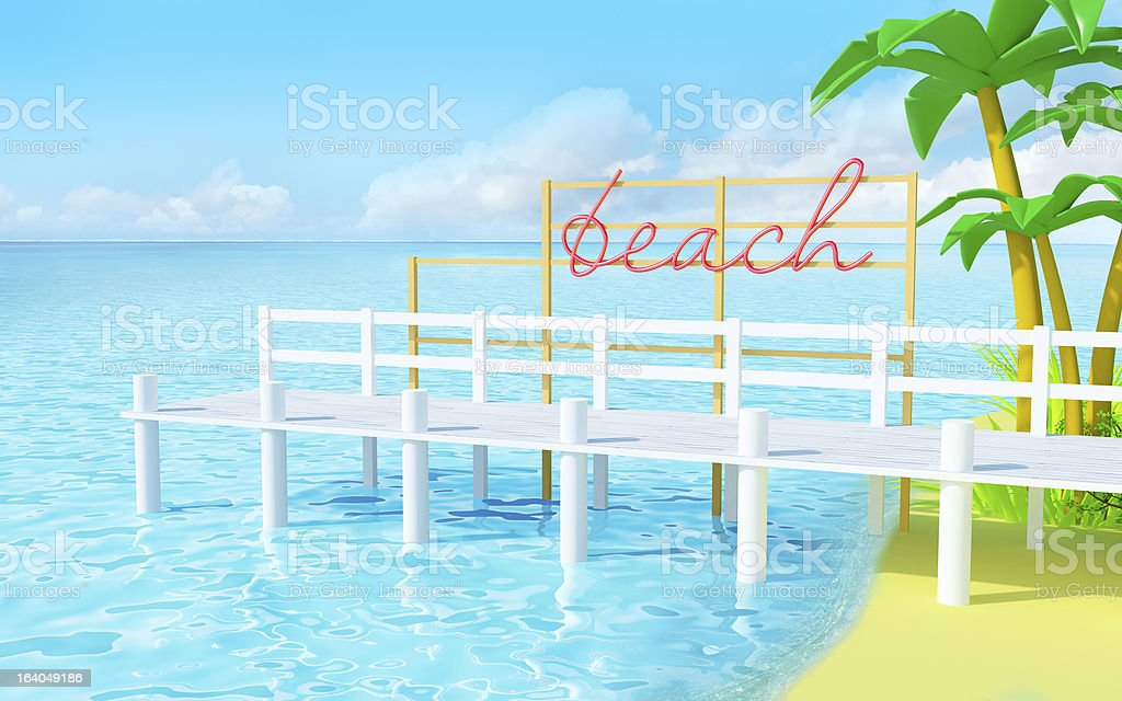 summer beach royalty-free stock photo