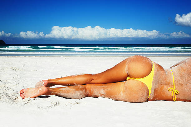 Summer Beach Sexy girl on the beach. g string bikini models stock pictures, royalty-free photos & images