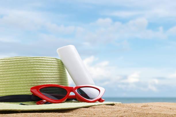 yaz plaj stok fotoğrafı