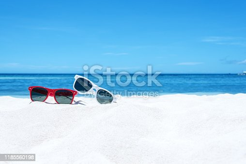 Summer beach vacation copy space scene