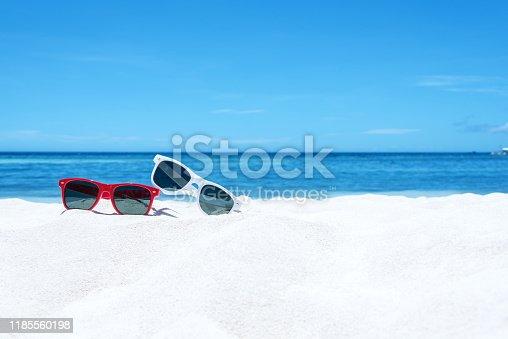 Summer beach vacation copy space scene