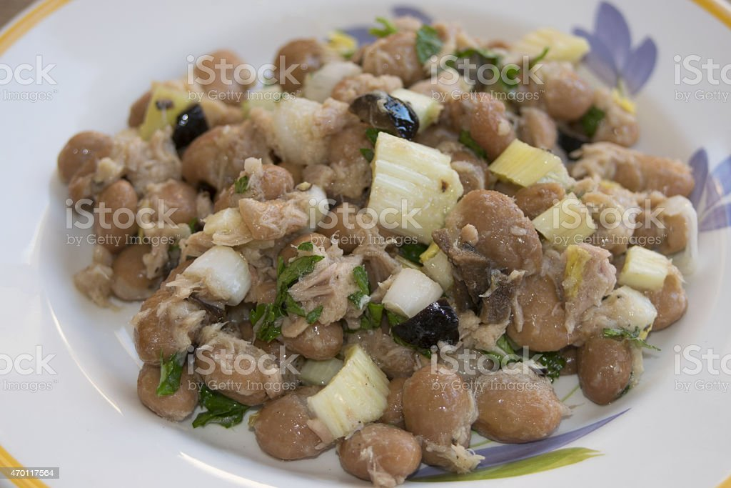 summer beans salad stock photo