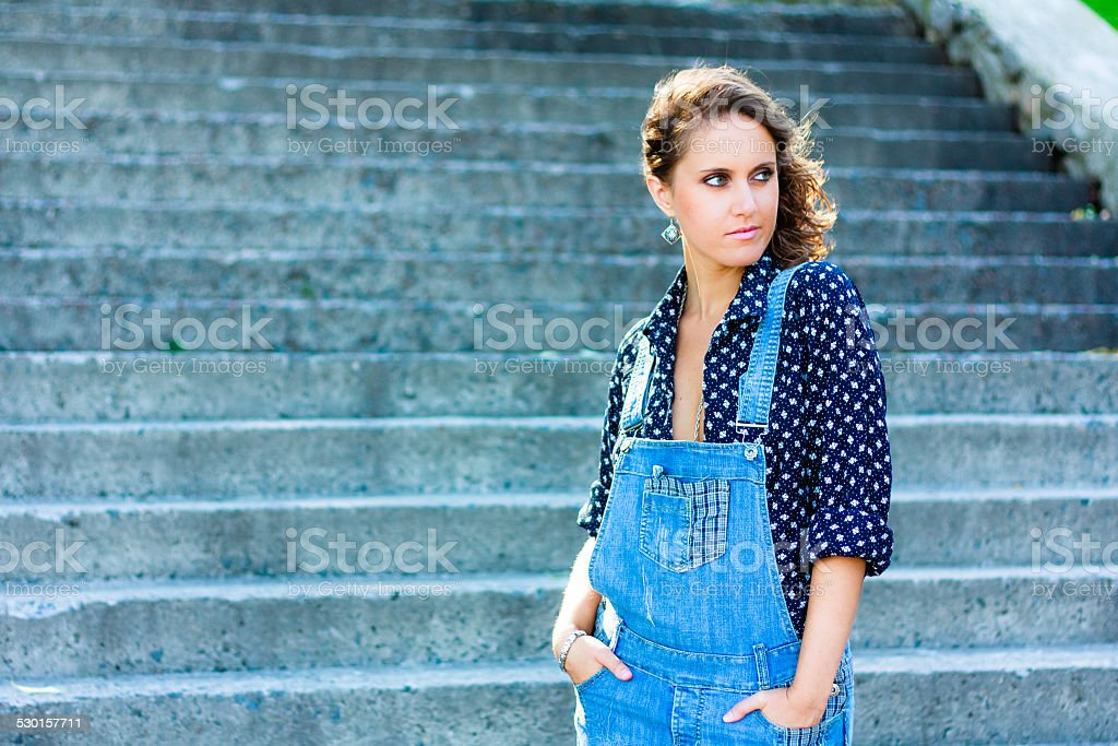 Summer beautiful girl portrait stock photo