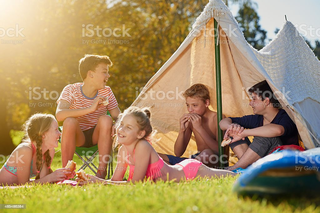 Summer belongs to the young stock photo