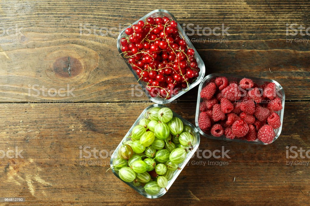 summer berries top view. royalty-free stock photo