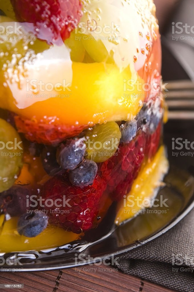 Summer Berry Jelly Terrine royalty-free stock photo