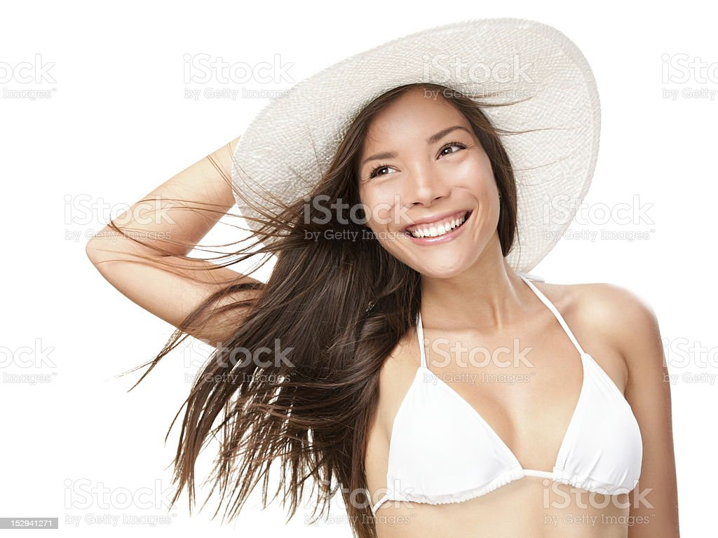 Summer bikini woman isolated royalty-free stock photo