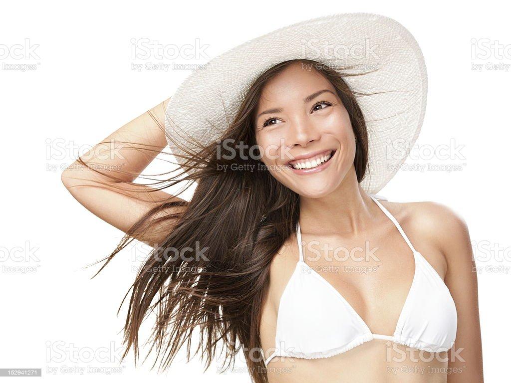 Sommer-bikini Frau Isoliert – Foto