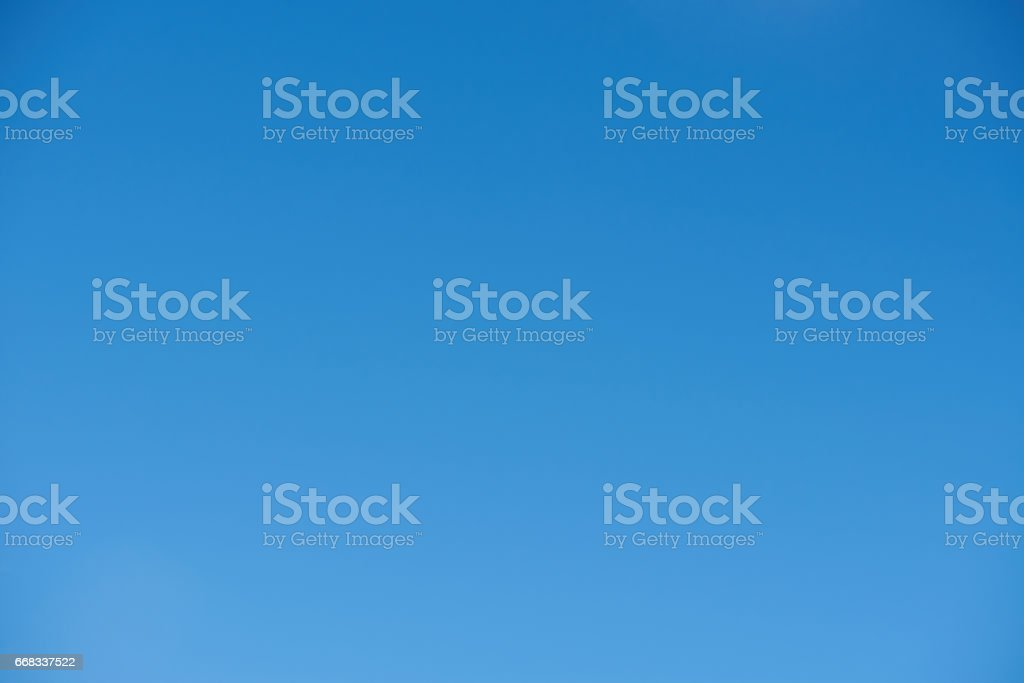 Summer blue clean blank sky background stock photo