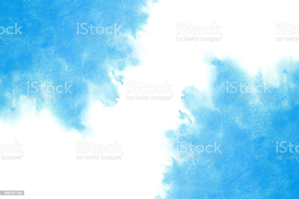 summer blue ink water wave abstract or vintage watercolor paint background royalty-free stock photo