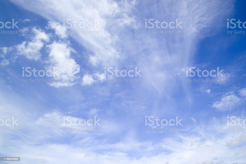 Summer blue sky with cloud formation royalty-free stock photo