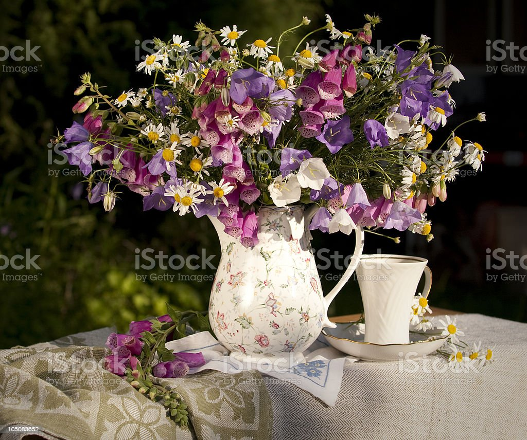 Summer bouquet flowers royalty-free stock photo