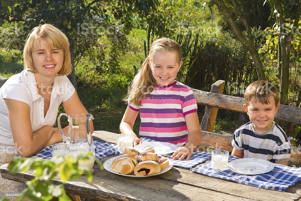 Summer breakfast royalty-free stock photo