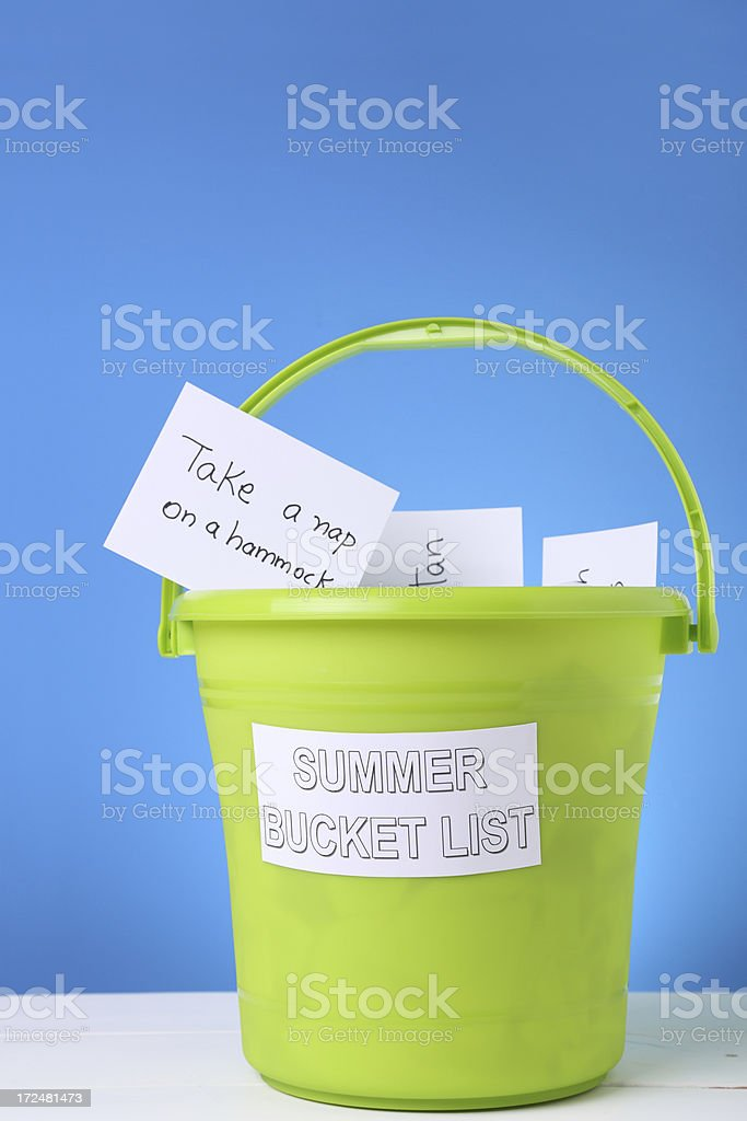 Summer Bucket List stock photo