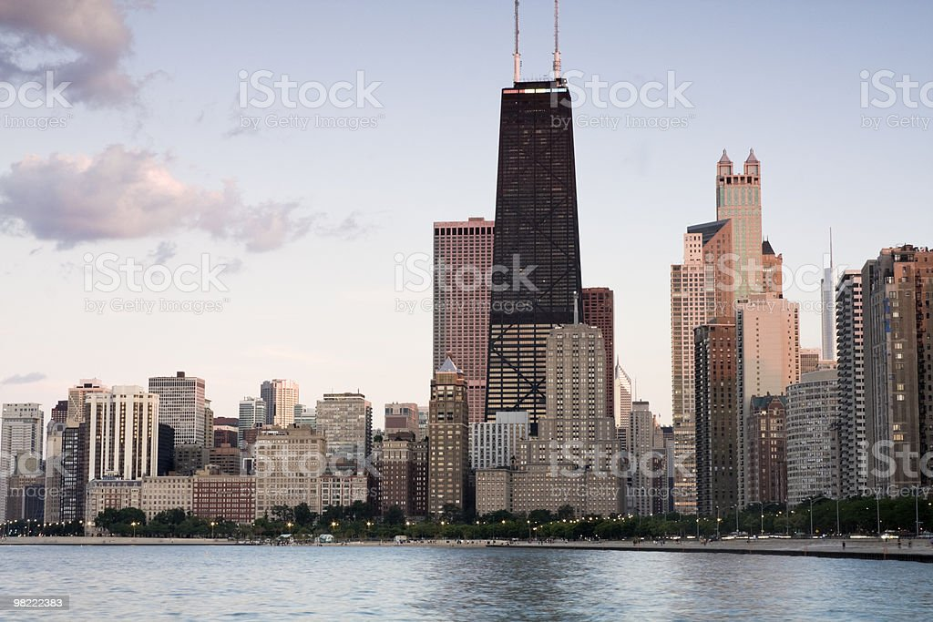 Summer by Gold Coast in Chicago royalty-free stock photo