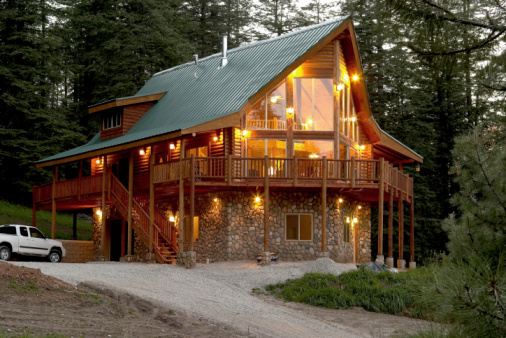 Cabin in a New Mexico  forest at 8,000 ft. altitude (USA)