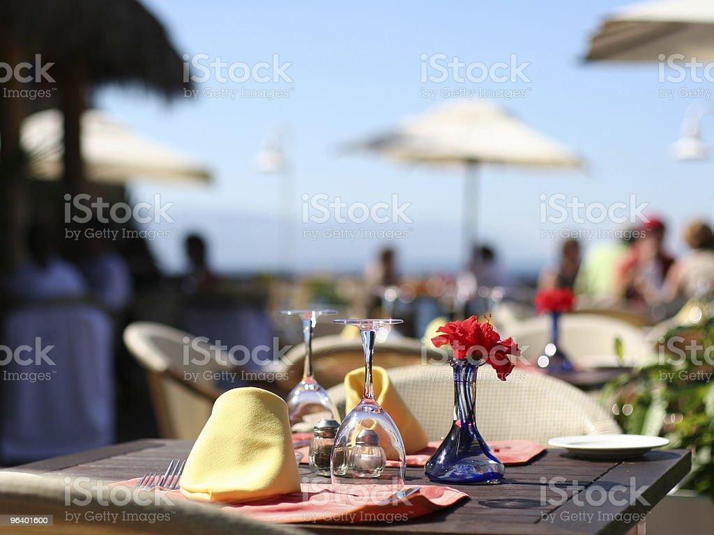 Summer cafe stock photo