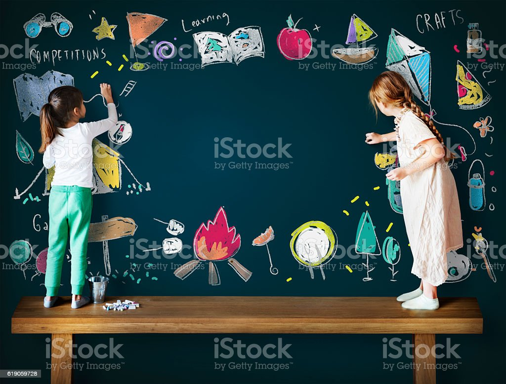 Summer Camp Adventure Exploration Enjoyment Concept stock photo
