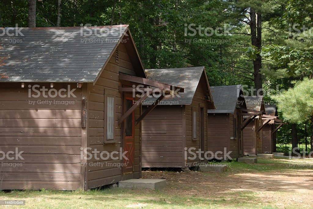 Summer Camp Cabins stock photo
