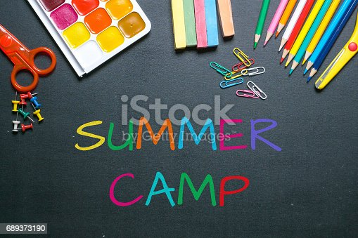 istock summer camp colorful chalk text on blackboard 689373190