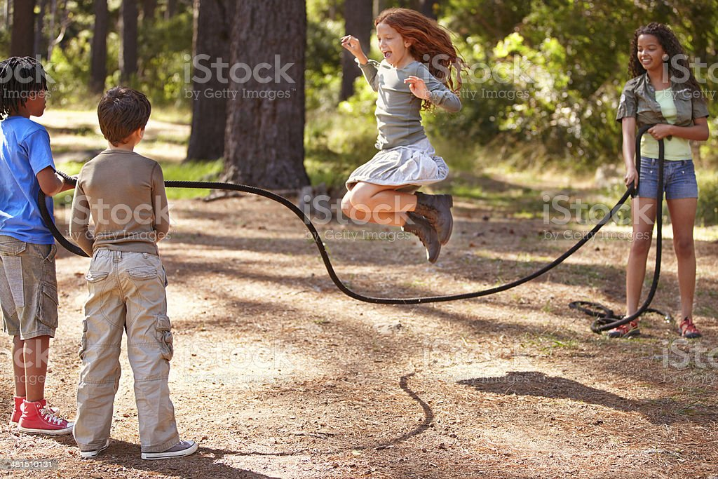 Summer camp is full of fun and friendship stock photo