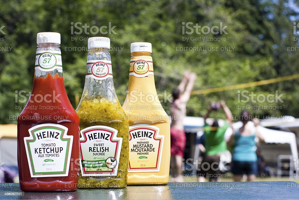Summer Camping or BBQ-ing stock photo