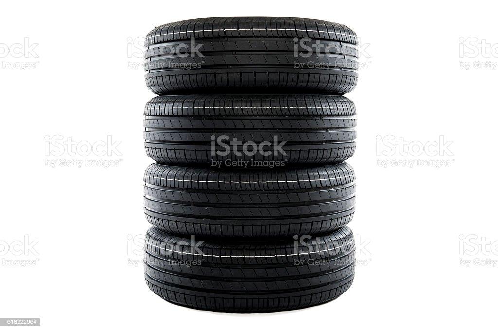 Summer car tires stock photo