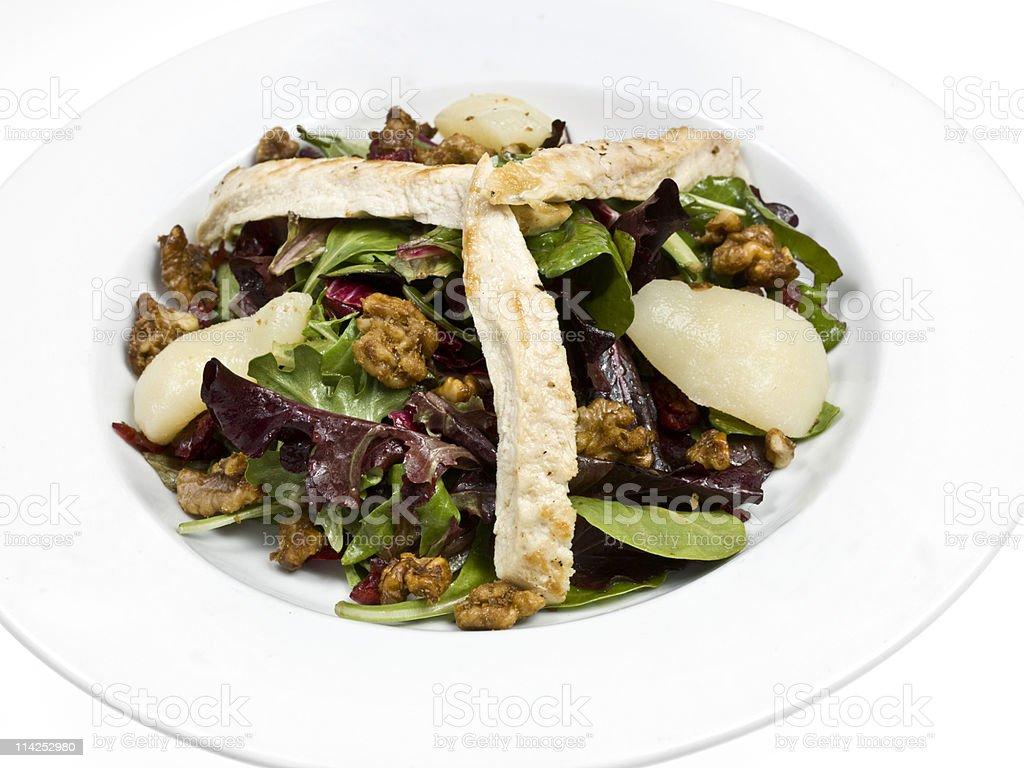 Summer chicken salad royalty-free stock photo