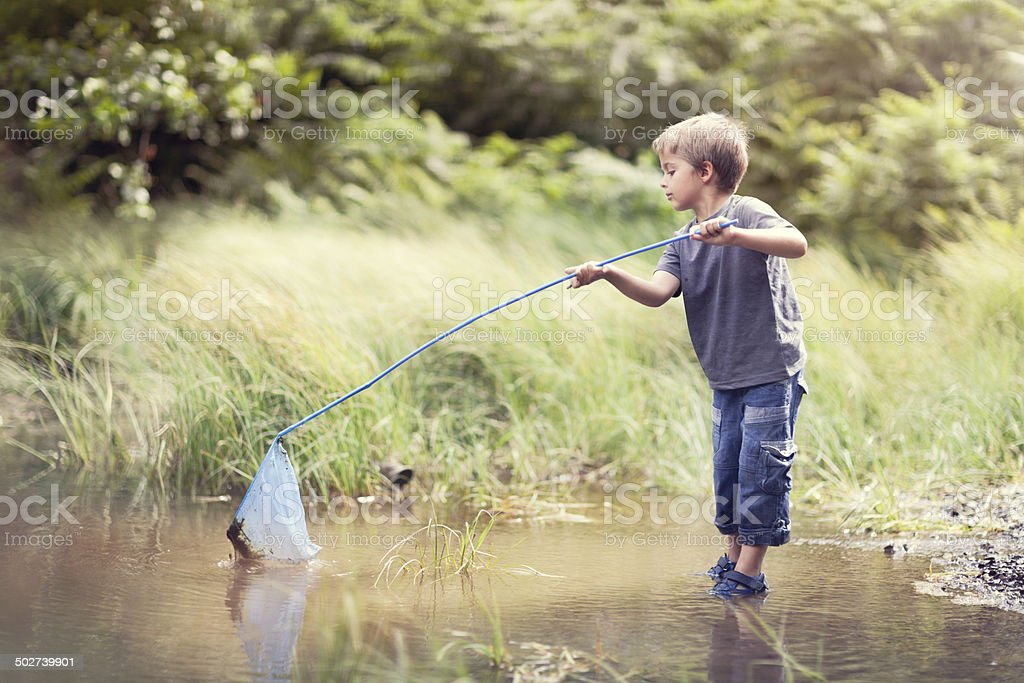 Summer childhood stock photo