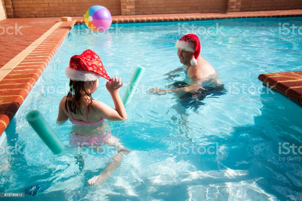 Summer Christmas stock photo