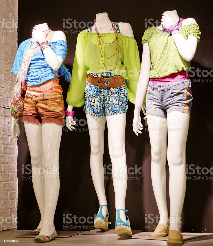 Summer Clothing Displayed at the Store royalty-free stock photo