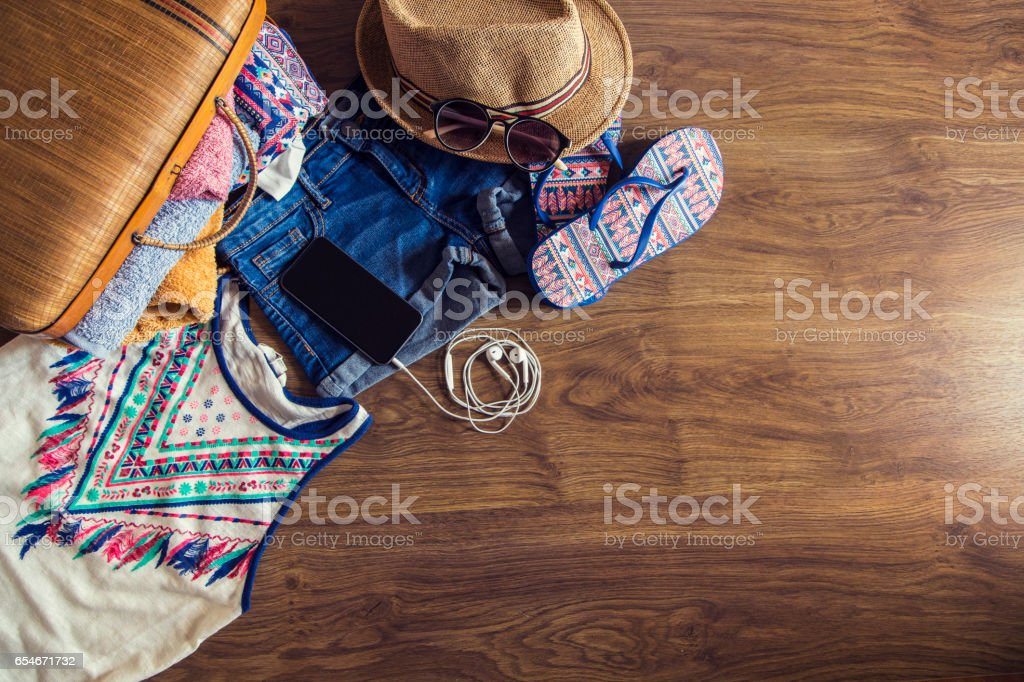 Summer clothing stock photo