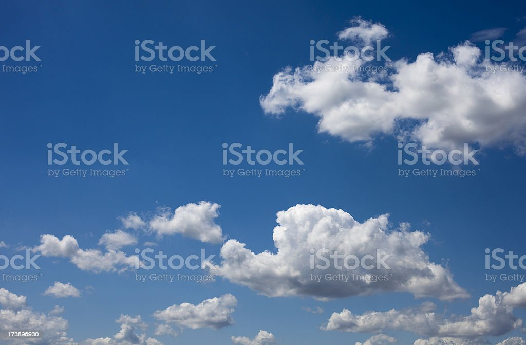 Summer clouds and blue sky royalty-free stock photo