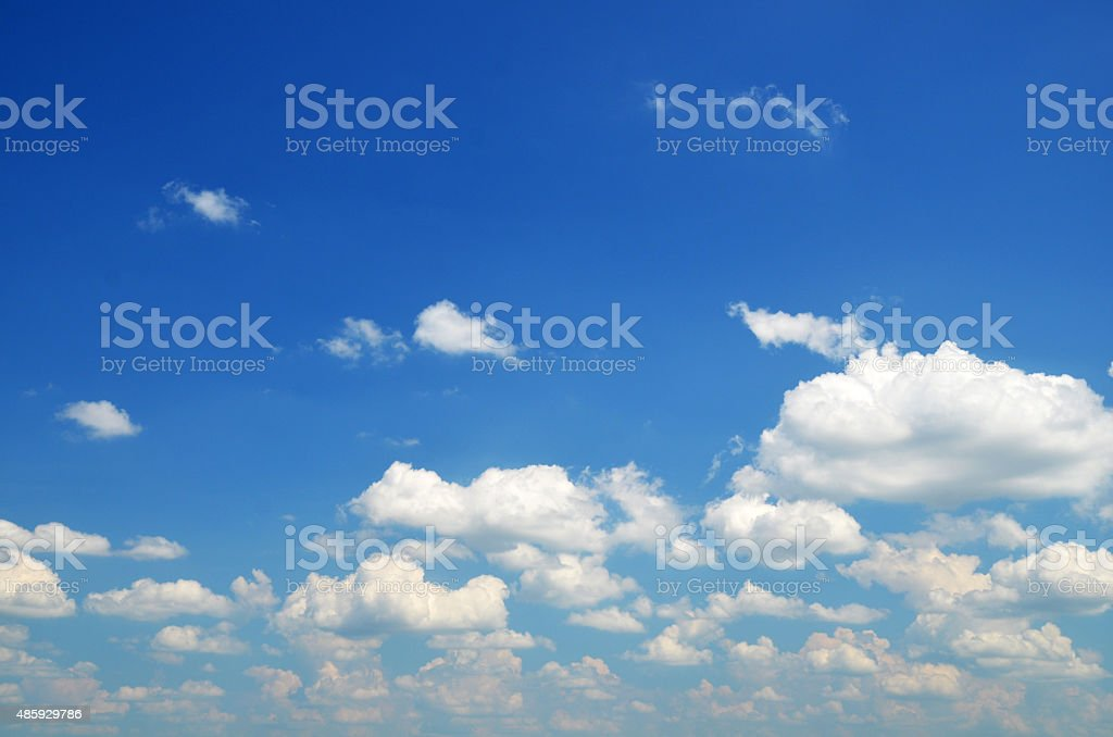Summer clouds stock photo
