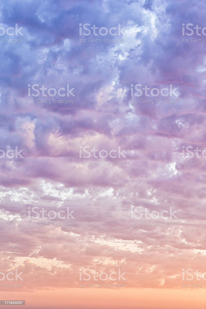Summer Cloudscape at Sunset royalty-free stock photo