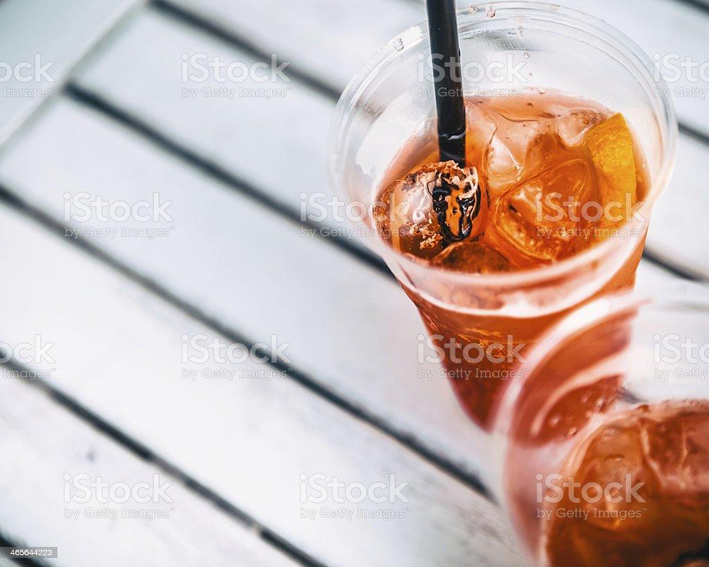 Summer Cocktail, Italian Spritz on Ice royalty-free stock photo